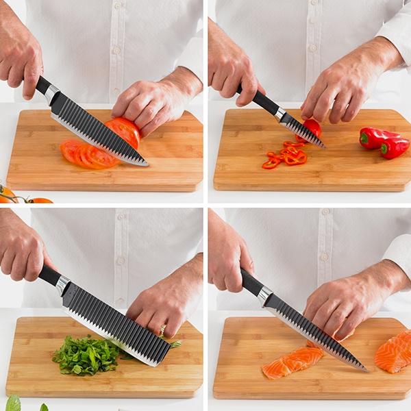 Conjunto de 4 facas Namiutsu Black Shark Swiss·Q