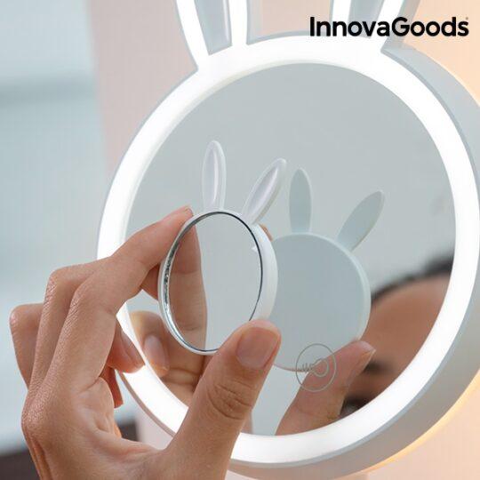 Espelho LED para Maquilhagem 2 em 1 Coelhinho
