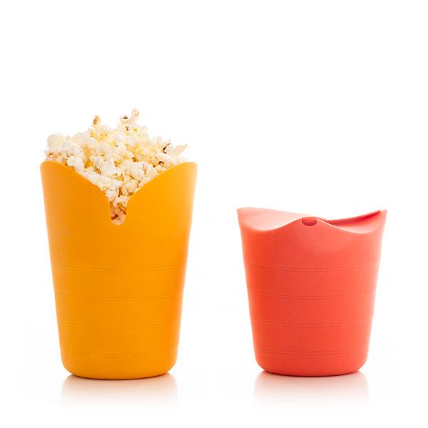 Conjunto de 2 Popbox para fazer Pipocas em silicone