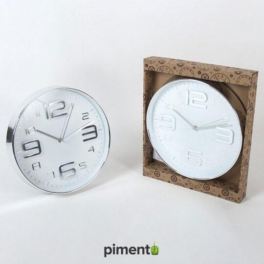 Relógio de Parede - Prateado