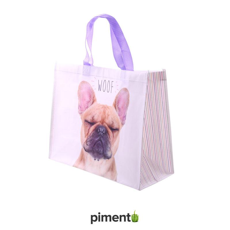 Saco de Compras Woof - Bulldog Francês