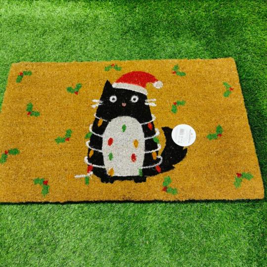 "Tapete de Entrada Gato ""Feline Cat"" (Natal)"