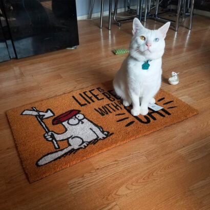 """Tapete """"Life Is Better With a Cat Simon's"""""""