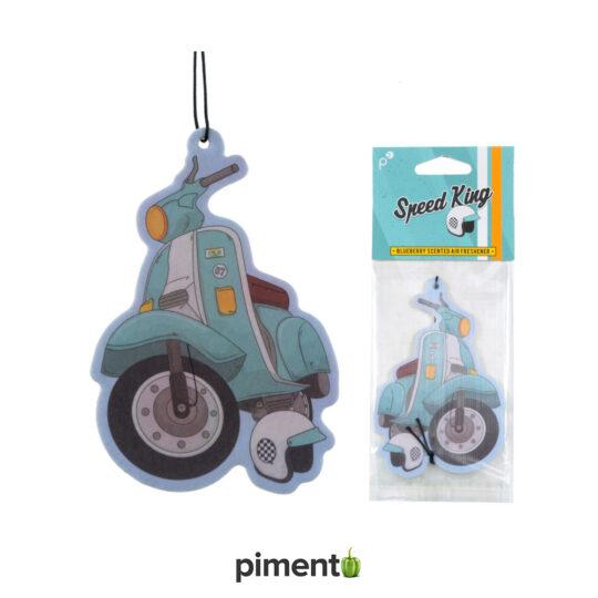 Ambientador para Carro - Vespa/Scooter Azul