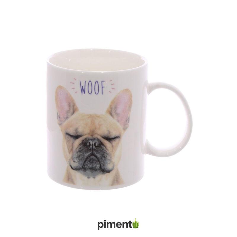 Caneca Bulldog Francês WOOF