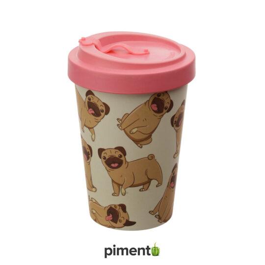 Copo em Bambu Pug - Reutilizável e Ecológico