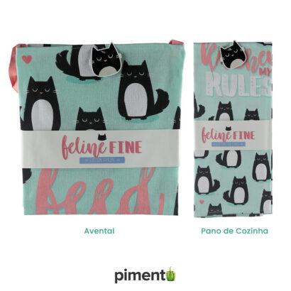 Avental e Pano de Cozinha Gato