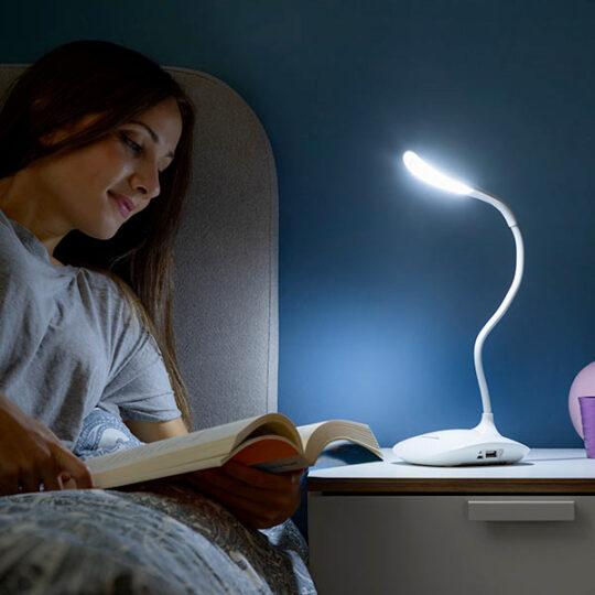 Candeeiro LED Portátil, Recarregável c/ função Powerbank