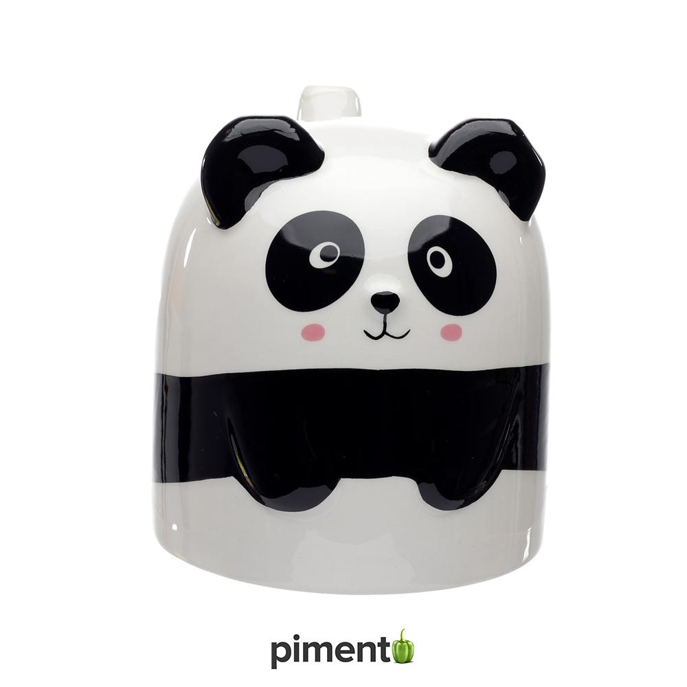 Caneca vira ao contrário 2 em 1 - Panda
