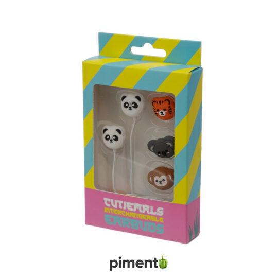 Auriculares Animais da Selva 4 em 1 - 3.5mm