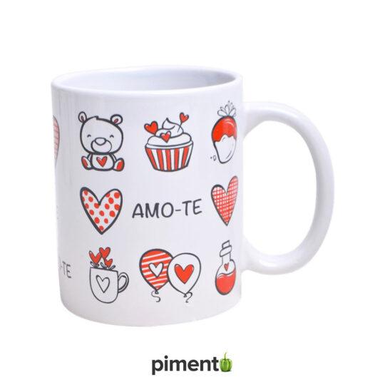 """Caneca """"Amo-te"""""""