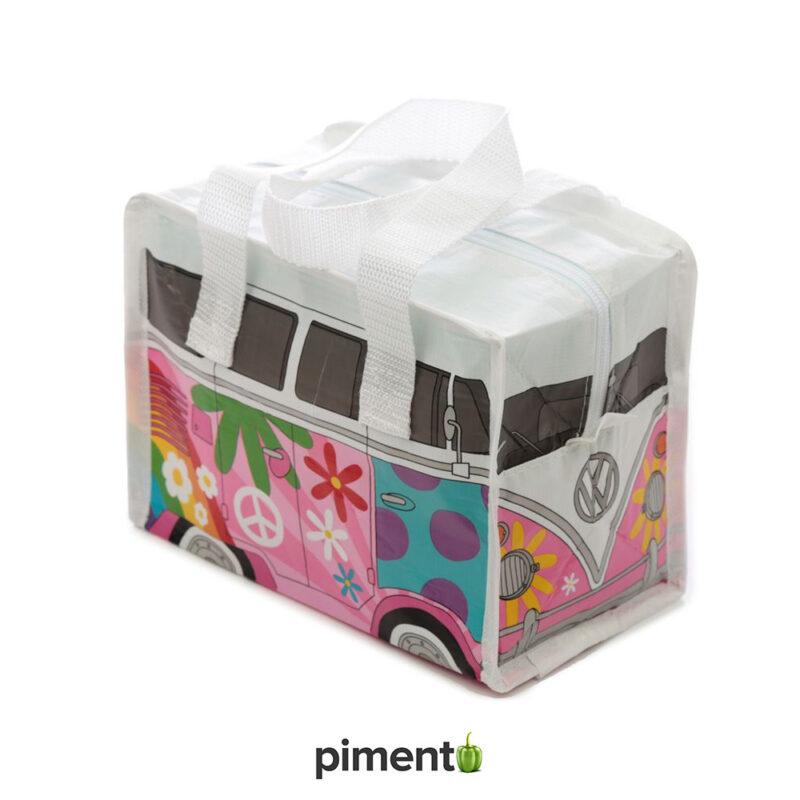 Lancheira térmica VW Pão de Forma Rosa Summer Love