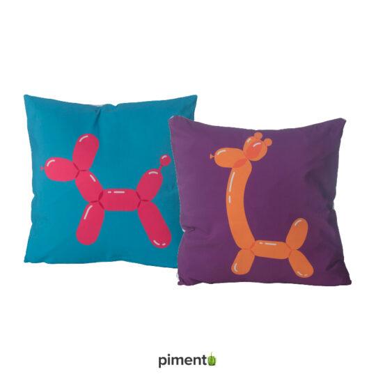 Conjunto 2 Almofadas Cão e Girafa