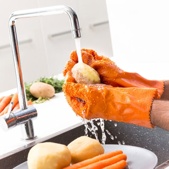 Luvas de limpar e descascar verduras e frutas