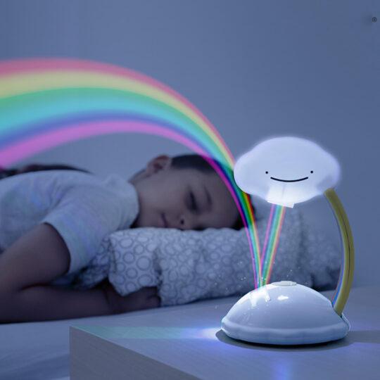 Projetor Criança LED Nuvem Arco-Íris