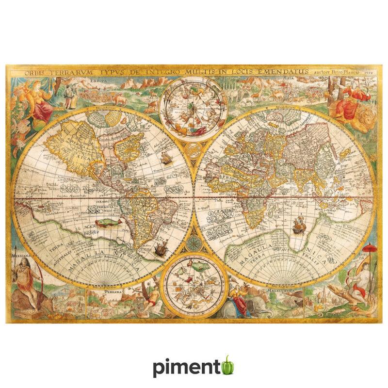 Puzzle 2000 peças - Mapa Antigo - Clementoni