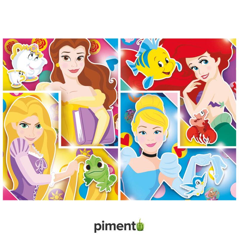 Puzzle Disney Princesas - 104 peças - Clementoni