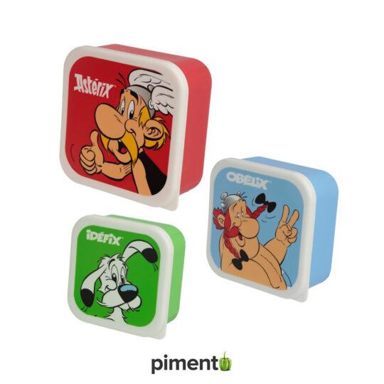 Conjunto 3 Marmitas - Asterix & Obelix