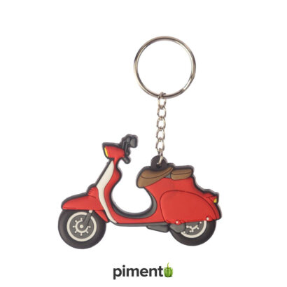 Porta Chaves Scooter Vespa Vermelho