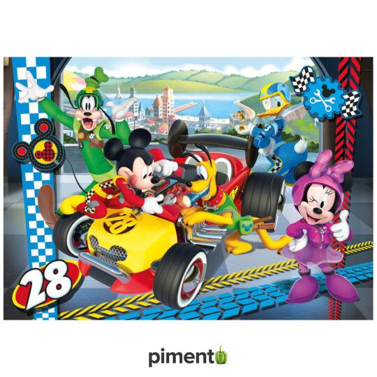 Puzzle Disney Mickey & The Roadster Racers - 104 peças - Clementoni