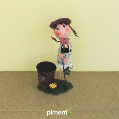 Boneca de latão para decoração jardim