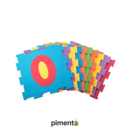 Tapete Puzzle c/ números para Crianças - 10 peças - Espuma EVA