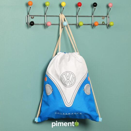 Bolsa com cordão Volkswagen Pão de Forma Azul