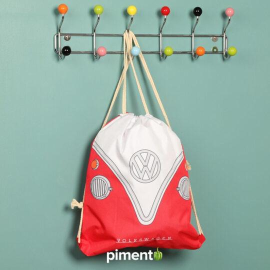 Bolsa com cordão Volkswagen Pão de Forma Vermelho