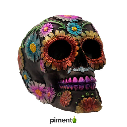 Caveira Decorativa Dia dos Mortos (Floral)