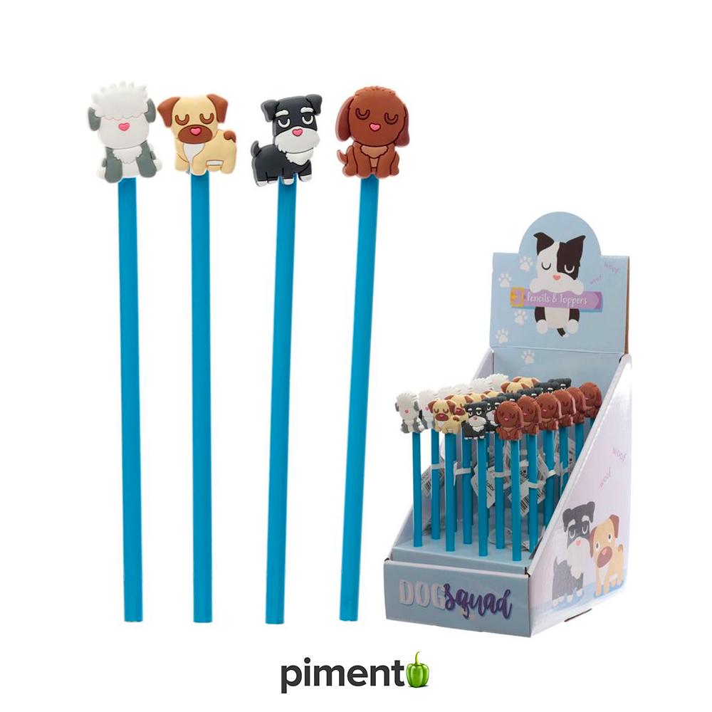 Lápis com figura 3D Gang dos Cães
